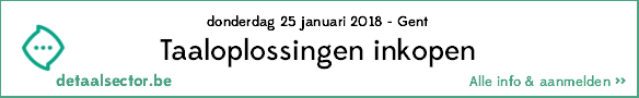 Alles over het inkopen van taaloplossingen - workshop 25 januari 2018, Gent